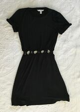 American Eagle Dress Black Cut-Out Waist Stretch Size XS