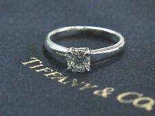 Tiffany & Co Platinum Lucida Diamond Solitaire Engagement Ring G-VS1 .50Ct