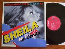 RARE VINYL 2LP 33T SHEILA AU ZENITH 1985 DEDICACE AUTOGRAPHE SIGNED EN BEL ETAT