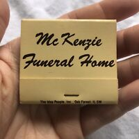Mc kenzie Funeral Home Oak Forest Illinois Matchbook Local Advertising