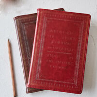 Vintage Leather Cover Journals Retro Notebook Lined Paper Diary Planner School