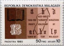 MADAGASCAR MALAGASY 1985 974 710 Language Bible Bibel Religion Landkarte MNH