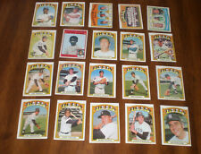 1972 DETROIT TIGERS TOPPS BASEBALL CARDS PARTIAL TEAM SET - 20 CARDS
