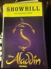 Aladdin playbill WITH insert (January 2017) Adam Jacobs James Monroe Iglehart