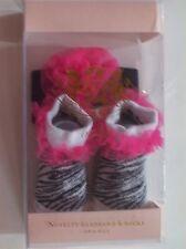 Juicy Couture Baby Crib Shoes/Booties/Socks Headwrap Animal Print Zebra
