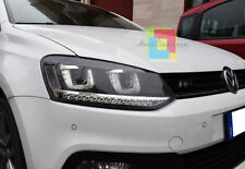 FANALI VW POLO 6R 2009+ FARI ANTERIORI LENTICOLARI GTI ANGEL EYES LED .-