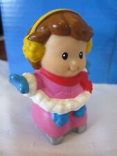Fisher Price Little People Winter Ice Skate Pond Girl Xmas Tree Main St Village
