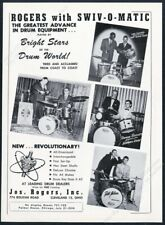 1958 Rogers drum set drums Ricky Nelson Lee Young photo vintage print ad
