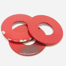 "(24) 2-1/2"" Powder Coated Washer Toss Washers - Damaged/Chipped - Bulk - Red"