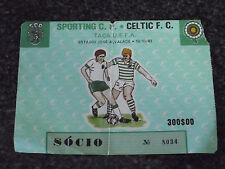 UEFA CUP 1983/84 - Sporting C.P. / Celtic F.C. - Used Ticket stub