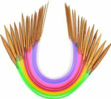 New! US Sizes 0-15 Bamboo Circular Knitting Needles 16
