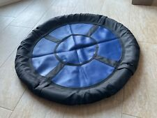 Tellerschaukel Nestschaukel Swibee 98 cm blau-schwarz PE-Gitter   ohne Seile