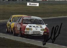 Autógrafo en foto 13x18 cm DTM 1987 Manuel Reuter-Ford Sierra xr4i