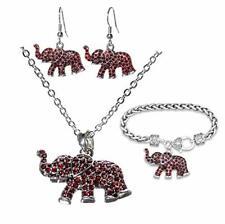 Alabama Crimson Tide 3 Piece Elephant Combo Set - Necklace, Earrings & Bracelet