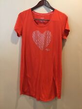 Victoria secret ladies size large night shirt with beaded heart on front