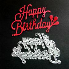 Stanzschablone Happy Birthday Geburtstag Balloon Geburt Album Karte Foto Deko