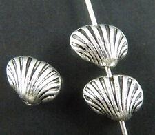 100pcs Tibetan Silver Nice Shell Spacer Beads 10x8mm ZN26317