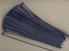 """100 8"""" Inch Long 18# Pound BLACK UV Nylon Cable Zip Ties Ty Wraps MADE IN USA"""