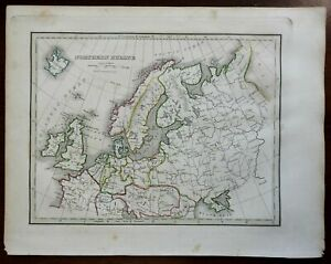 Northern Europe British Isles German Confederation Russian Empire 1835 map