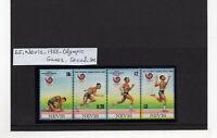(GB65) Nevis - 1988 Olympic Games - Seoul, South Korea MNH strip