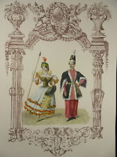 Amazone Orientale Orient Carnaval kol. Lithographie BERLIN 1836 g63