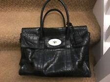 Mulberry Bayswater Back Croc Congo Leather Bag