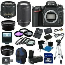 Nikon D750 Digital SLR Camera + 18-55mm VR + 70-300mm + 8 Lens Super Lens Kit