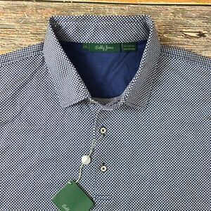 NWT Bobby Jones Men's Cotton Polo Shirt Sz 2XL Blue