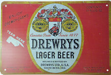 """Drewrys Canada Pride Beer Ale Lager Bottle Tin Metal Sign Retro Plaque 12x8"""" NEW"""