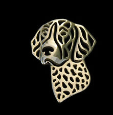 German Shorthaired Pointer Brooch Lapel Pin -  Fashion Jewellery - Gold Plated