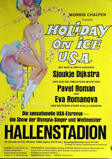 Original Plakat - Holiday on Ice USA 1966  im Hallenstadion Zürich
