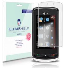 iLLumiShield Matte Screen Protector w Anti-Glare/Print 3x for LG Xenon