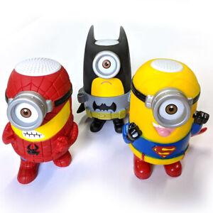 Bluetooth Wireless Mini Portable Speaker Radio Cartoon Superhero Kids Gift