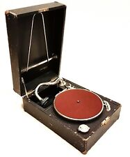 Antique Portable Phonograph Gramophone THORENS WWII German Wehrmacht trophy