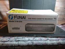FUNAI 31B-250 VIDEOREGISTRATORE VHS HQ SMART VCR argento con Remote NUOVO