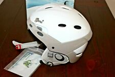 Boeri Women's Tactic Lily Ski Snowboard Helmet Size Small White Breast Cancer