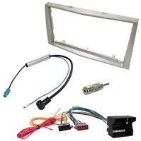 Kit Adaptateur Autoradio Cadre beige 2 DIN Câble Faisceaux compatible avec Opel