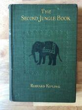 The Second Jungle Book Rudyard Kipling 1898 Early printing