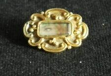 ANTIQUE SOLID GOLD GEORGIAN LOVERS EYE MOURNING BROOCH
