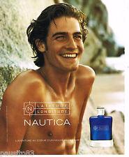 PUBLICITE ADVERTISING 065  2001  LATITUDE LONGITUDE parfum homme NAUTICA