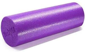 "Yes4All Premium Medium Density Round Pe Foam Roller Physical Therapy 18"" Purple"