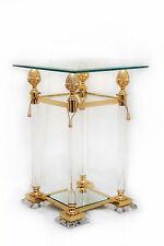 Acrylsäule 80cm Acrylmöbel Kristall Exklusiv Glastisch Beistelltisch Gold