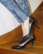 Roland Cartier Court Shoes 5.5 38.5 Black Sexy Pointed Toe Heel Secretary Office