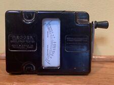 Vintage Megger Meter Electrical Testing Tool Hand Crank