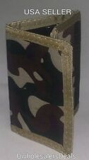 Tri-fold Camouflage Men's Wallet DESERT ARMY Camo Velcro Wallet - NEW