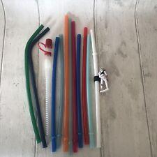 12 Reusable Colorful Hard Plastic Straws Including Disney Star Wars Tumblers