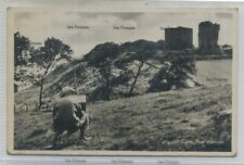 More details for fife postcard macduff castle east wemyss being  painted 1930s-40s methil buckhav