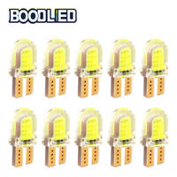 10pcs 192 194 158 T10 Silica gel COB LED License plate interior map Light bulbs