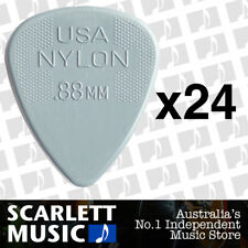 24 x Jim Dunlop Nylon Standard Greys .88mm Guitar Picks Plectrums 0.88 Grey