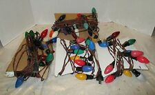 Vintage 4 Strands Old Fashioned Electric Indoor Outdoor Christmas Light Bulbs